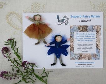 Set of Superb Fairy Wren fairies