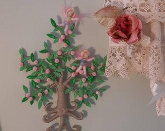 Hanging Fairy tree with 2 tiny Fairies.