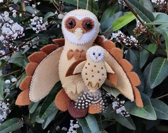 Pair of Craft kits- Masked Owl and Baby