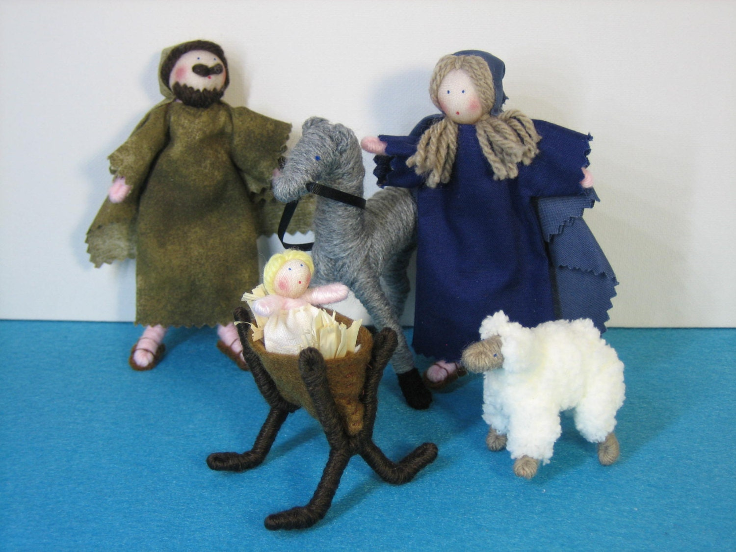 Nativity Set Of Handmade Dolls Etsy