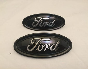 Ford Fusion Oval Emblem Setblack Chrome Logo Front Rear