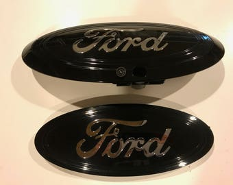 Ford F  Super Duty Oval Emblem Setblack Chrome Logo Grille Tailgate Other Colors Camera Type