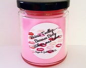 Vicious Trollop, Scented Candle, Emily Gilmore, Lorelai Gilmore, Lipstick, Jar, Pink, Red lips, Gilmore girls, Free shipping , Inspired