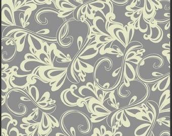 Art Gallery Fabrics Poetica by Pat Bravo Rhythmic Gray