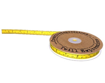 """1/2"""" Tape Measure Twill Tape in Yellow 