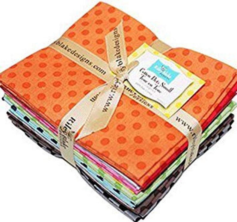11 Piece Fat Quarter Bundle 18 x 22 Riley Blake Designs FQ42011 Quilting Fabric Small Cotton Tone on Tone Dots