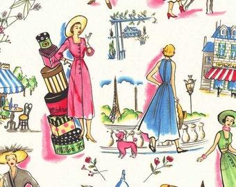 """Michael Miller Fabrics """"Essentials"""" Springtime in Paris in Multi"""