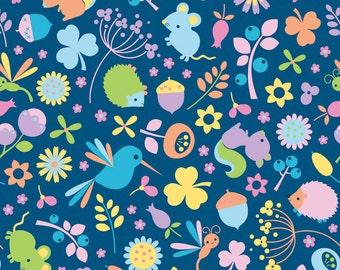 Riley Blake Wildflower Meadow by Melly & Me Main Blue # C4140