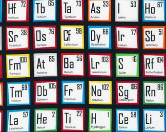 Science Fair by Illustration Ink Periodic Table of Elements in Multi for Robert Kaufman by the Yard