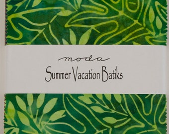 "Moda Summer Vacation Batiks Charm Pack 40 ~  5"" x 5"" Squares"