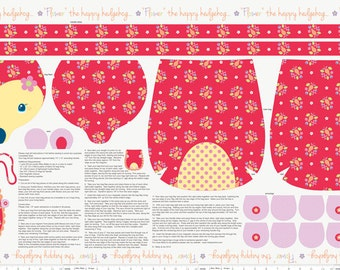 Rilely Blake - Wildflower Meadow by Melly & Me Flower The Happy Hedgehog Red Purse Pattern Panel
