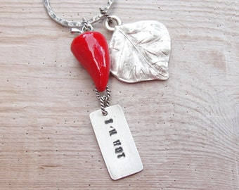 Red hot chili Pepper Keychain / Bag Ring Some Like it Hot