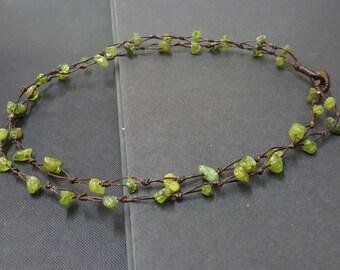 Double Strand  Peridot Necklace