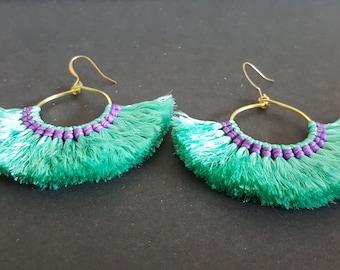 Handmade Cotton Tassles  Earring,Dangle Earring