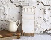 Vintage Architectural Salvage, Farmhouse Decor, Chippy Architectural Molding