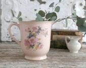 Vintage Pink Floral Pitcher, Cottage Home Pitcher, Country Home Decor, Light Pink Pitcher, Cottage Decor