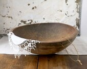 Vintage Dough Bowl, Extra Large Wooden Dough Bowl, Farmhouse Decor