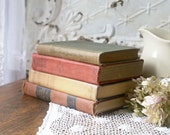 Autumn Book Stack, Vintage Book Bundle, Books for Decor, Set of 4 Vintage Books
