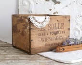 Vintage Wooden Crate, Wood Box, Farmhouse Decor, Wood Crate from Germany