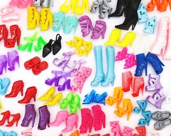 6 Pairs of Great and Colorful Boots Made to Fit Barbie