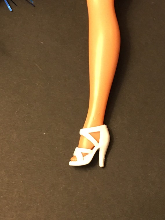 1//6 Barbie Doll Red Strappy Pump High Heel Shoes