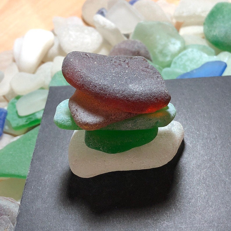 Sea glass lot surf tumbled for sea glass jewelry or sea glass art from sea glass beach