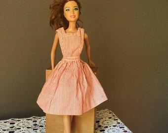 daca09b3b3dda Vintage Barbie Candy Striper Volunteer Uniform Dress #0889 Pinafore Red and  White Stripe
