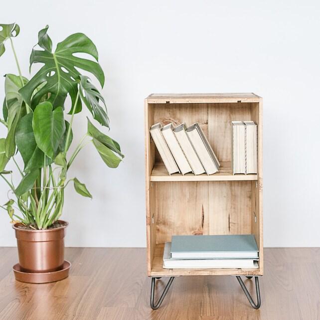 Aufgearbeiteten Holz Wein Kiste Möbel Schrank / Kaffee Tisch / | Etsy