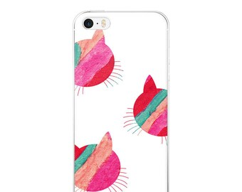 Cat iPhone - because cats art print feline love apple iphone cases plus plastic slim skinny fit snap on bevel cute hipster artsy design