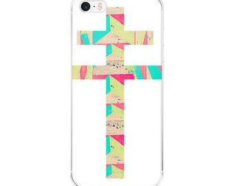 Hipster iPhone Case --- apple iphone cases slim skinny fit snap on case iphone se case plus case double cross art print colorful