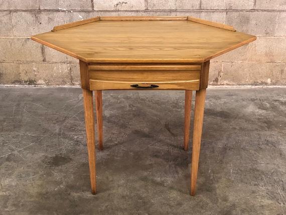 Owosso Juvenile Mid Century Modern 1 Drawer Corner Desk | Etsy