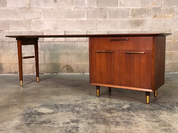 Mid-Century Modern Executive Desk / Credenza By Jasper   Etsy on desk with floor lamp, desk with return, desk with recliner, desk with rug, desk with screen, desk with hutch, desk with closet, desk with magazine rack, desk with cabinet, desk with secretary, desk with drawer chest, desk with workstation, desk with computer, desk with typewriter, desk with wardrobe, desk with bed, desk with refrigerator, desk with clock, desk with bookshelf, desk with table,