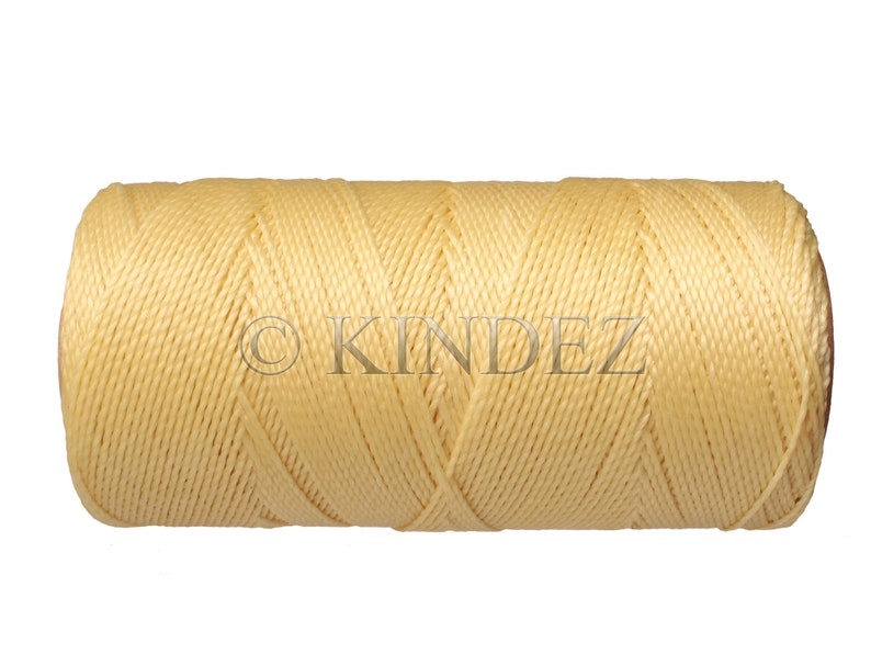 Macrame Cord 0.5mm Beaded Jewelry Micro Macrame String Waxed Polyester Cord 20 Meters Necklace Cord Rich Cream
