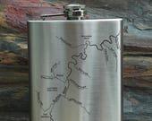 Buffalo River Map FLASK f...