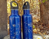 River Map WATER BOTTLE -C...