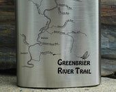 TRAIL MAP FLASK - Greenbr...