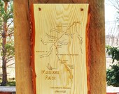 River Map CABIN PLAQUE - ...