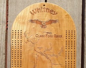 River Map CRIBBAGE BOARD ...