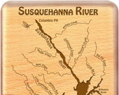 SUSQUEHANNA River Map Fly...