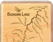 BIGHORN LAKE River Map Fl...