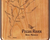 PECOS RIVER Map Fly Box -...