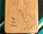 FOX RIVER Map Fly Box - P...