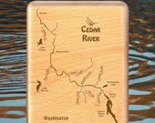 CEDAR RIVER Map Fly Box -...