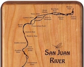 SAN JUAN River Map Fly Bo...
