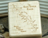 BOIS BRULE River Map Fly ...