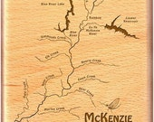 McKENZIE RIVER Map Fly Bo...