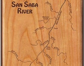 SAN SABA River Map Fly Fi...