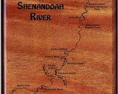 SHENANDOAH River Map Fly ...