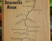 RIVER MAP Wall Plaque –...
