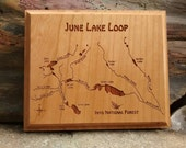 JUNE LAKE LOOP River Map ...